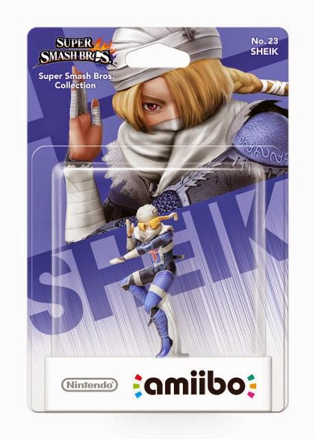 JUGUETES - NINTENDO Amiibo - 23 : Figura Sheik  (23 enero 2015) | Videojuegos | Muñeco | Super Smash Bros Collection  Plataforma : Wii U & Nintendo 3DS