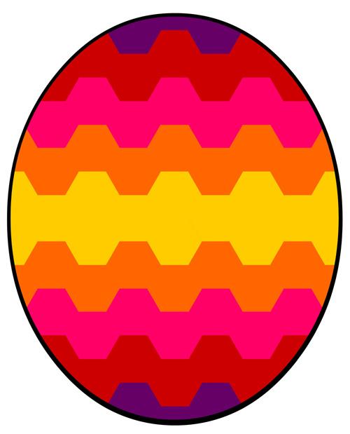 Classroom Treasures Easter Egg Symmetry
