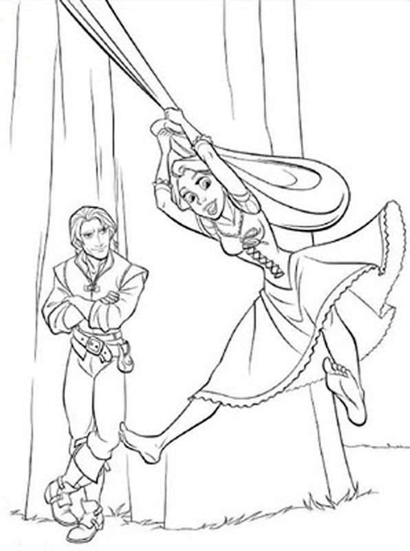 Tangled Coloring Pages Free title=
