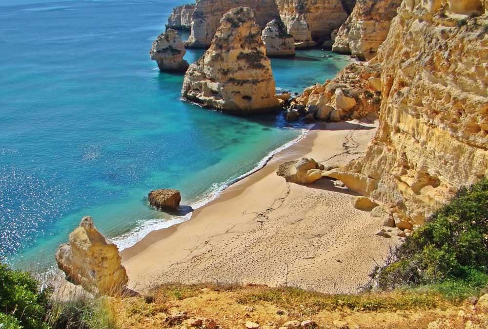 Melhores Praias de Portugal Praia da Marinha Portugal