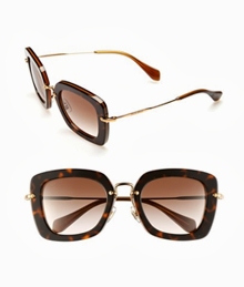 Miu Miu Retro Sunglasses Havana