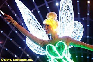 Tinker Bell paints the night at Disneyland