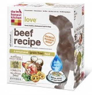 the honest kitchen love dog food package