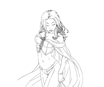 #8 Emma Frost Coloring Page