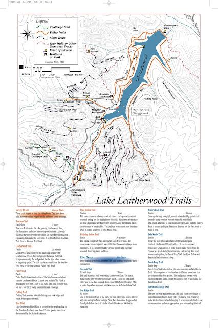 Lake Leatherwood Trail Map