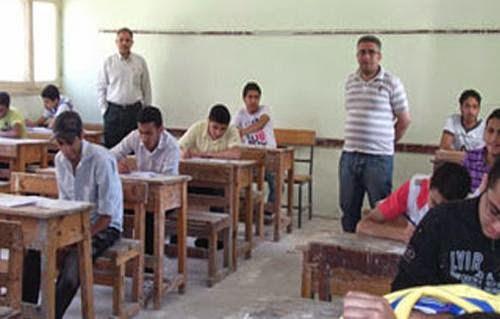 بدء امتحانات الشهادة الإعدادية الصف الثالث الاعدادي بمحافظة الشرقية