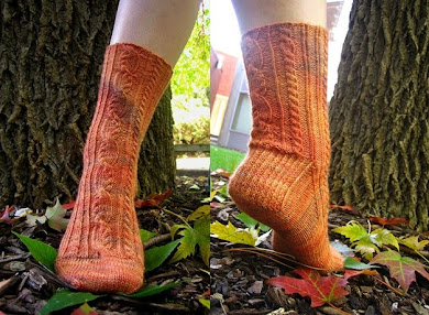 Coiled Cables &amp; Ribs Socks