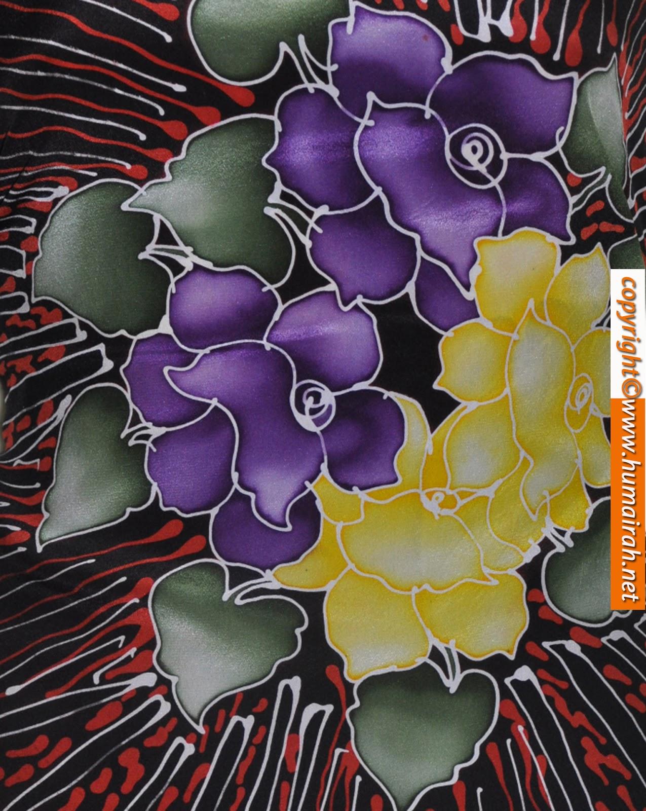 Bunga Raflesia Penuh - BATIK SUTERA - I Love Batik Sutera Terengganu