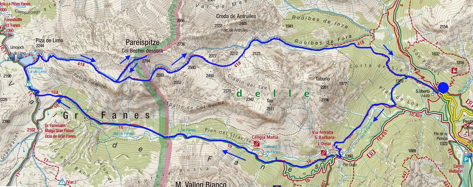Stralcio della mappa interattiva Kompass dal sito http   maps.kompass.at d55e4061357