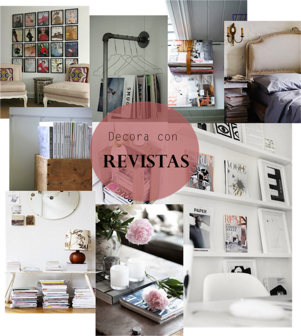 Decora con revistas