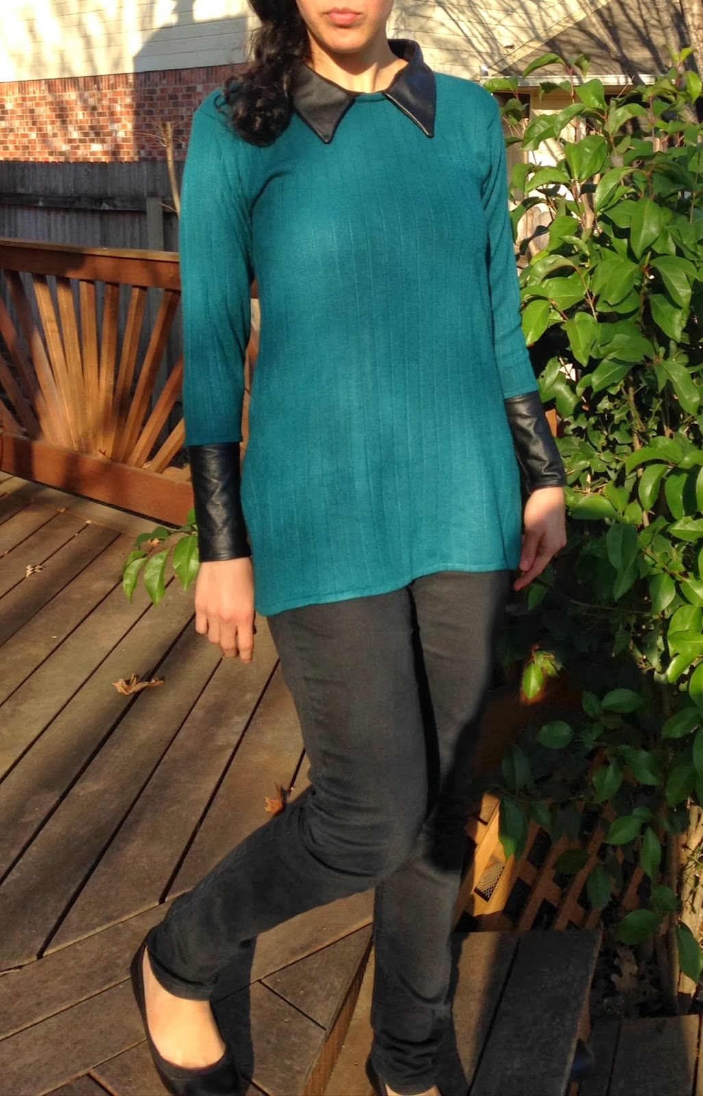 Ulterior Alterations: Refashioned Sweater with Removable Leather Details