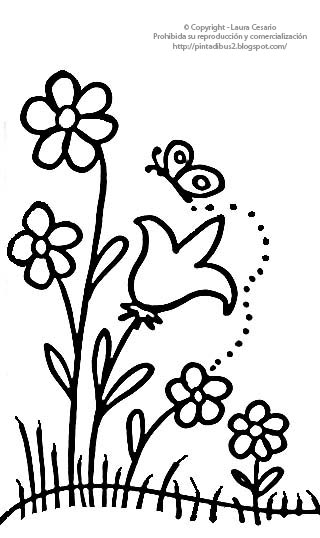 Laminas para colorear coloring pages flores para pintar for Plantas para dibujar