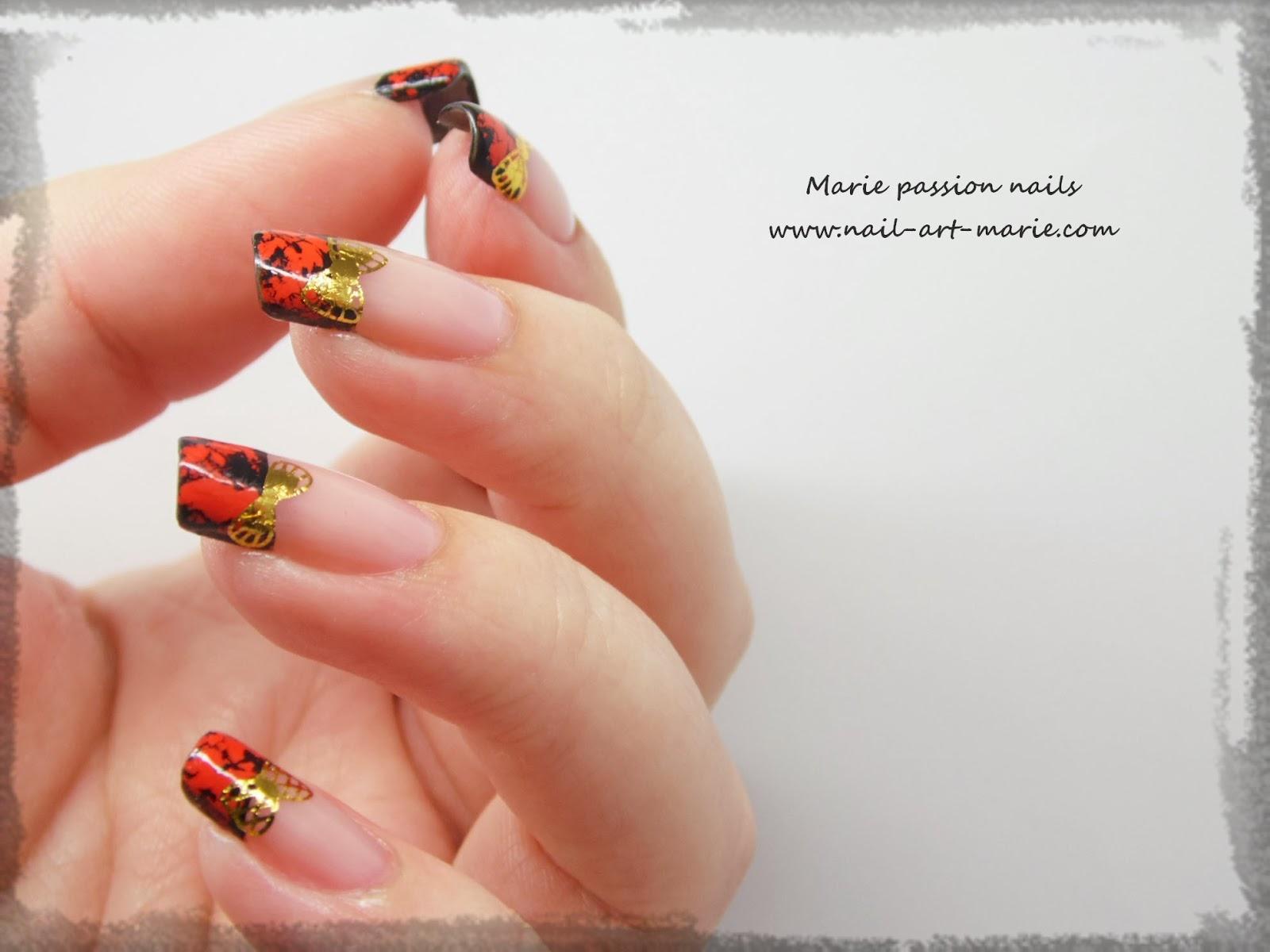 Nail Art avec craquelures de foils matte6
