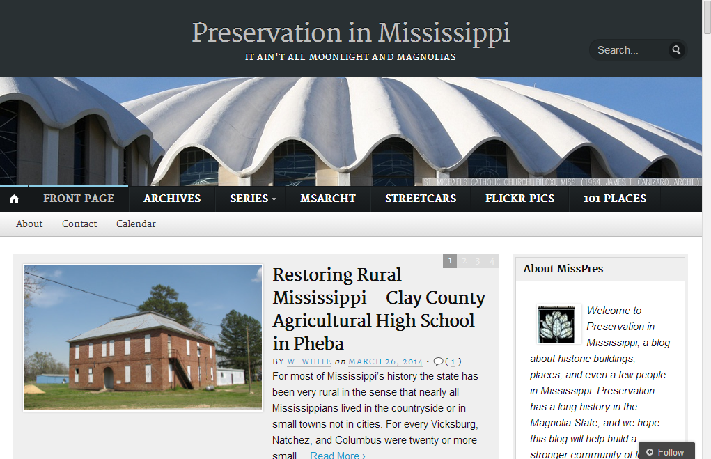 Preservation in Mississippi Hickory Ridge Studio