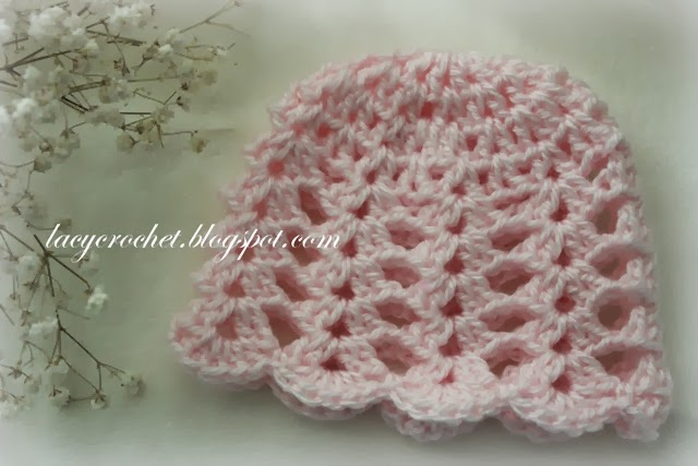 Free Crochet Baby Hat Patterns : Lacy Crochet: Baby Hats Free Patterns