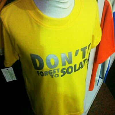 Design T-Shirt Menarik - Don't Forget To Solat!