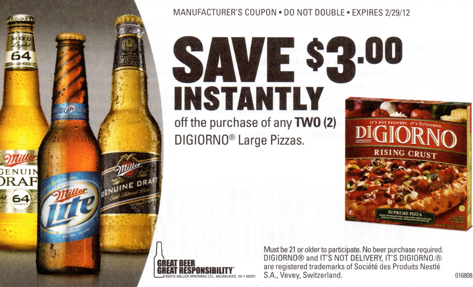 Coupons beer