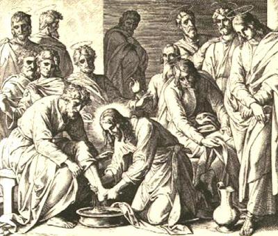 Imagen del Lavatorio de los Pies por Jesús