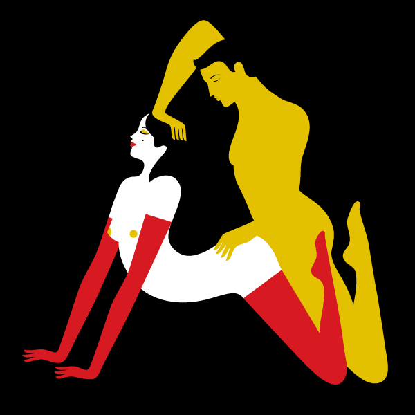 Malika Favre ilustrações sexo kama sutra posições sexuais animadas