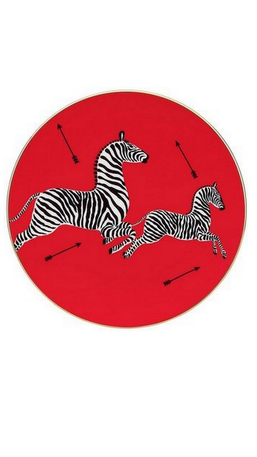 ------Zebra Salad Plate-------