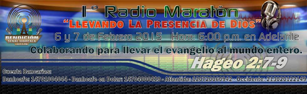 Primara Radio Maratón de Radio Bendicón 107.5 fm
