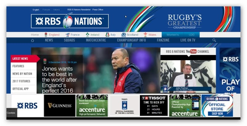 SIX NATIONS (site oficial)