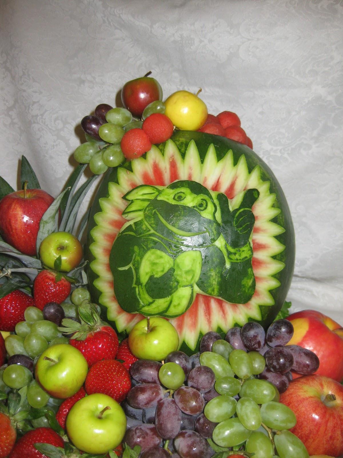 Fruit platter can say it ninja turtle