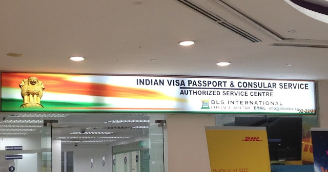 Indian visa passport and bls ltd office at little india in singapore