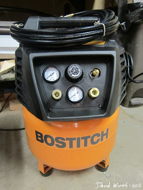 bostitch air compressor 6 gal kit hose nail guns