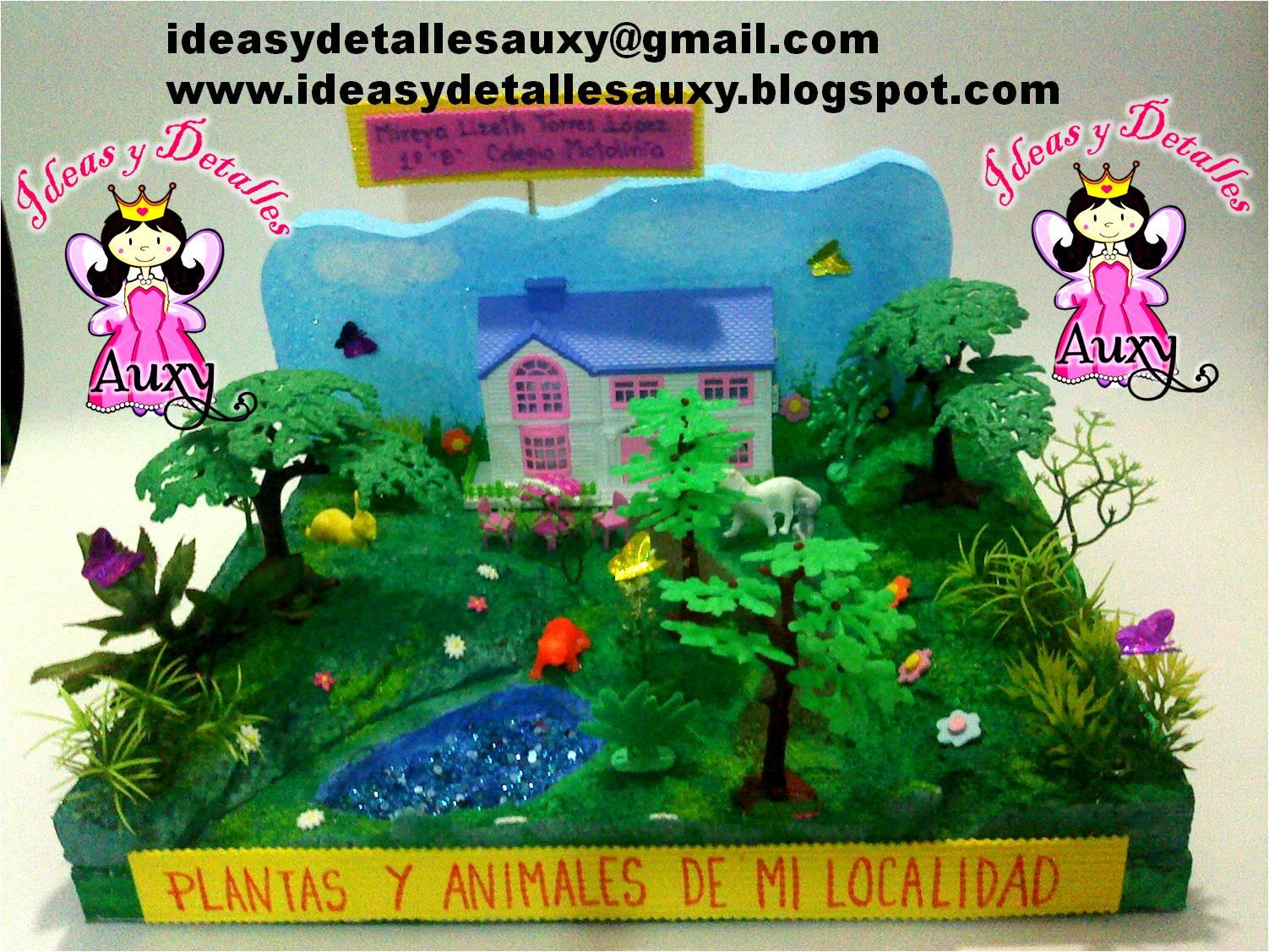 MAQUETAS DE PLANTAS Y ANIMALES DE MI LOCALIDAD