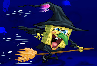 sponge bob halloween pictures to print