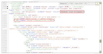 cara membuat widget tag h4