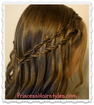 Waterfall twist Scissor Braid