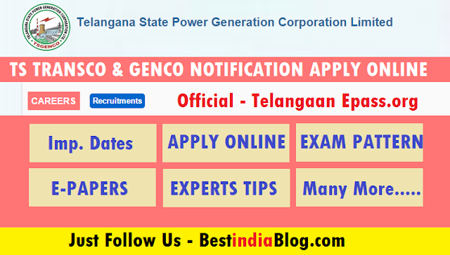 ts genco transco notification, Transco apply online, ts govt jobs
