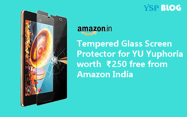 Free Tempered Glass from Amazon