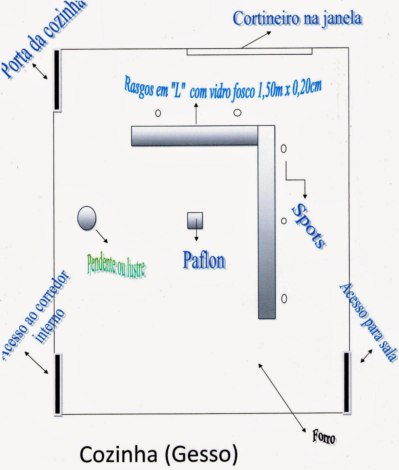 Humilde Residência : Meu Projeto de Gesso e Iluminação: Cozinha #1849B3 1358 1600