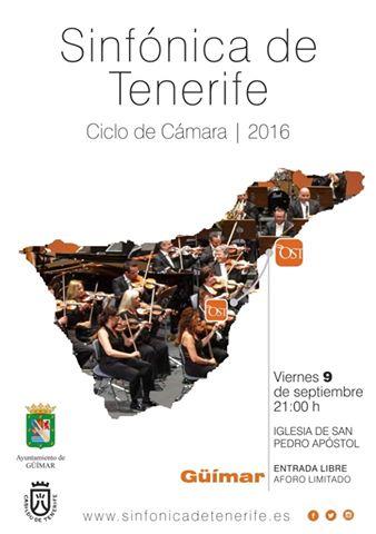 Concierto de la Sinfónica de Tenerife el 9 de Septiembre. Pincha en el cartel para leer el programa