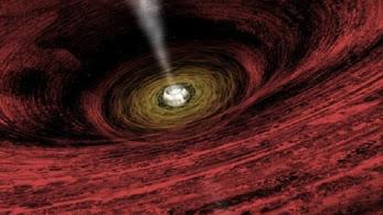 Frío diluvio intergaláctico que alimenta agujero negro.