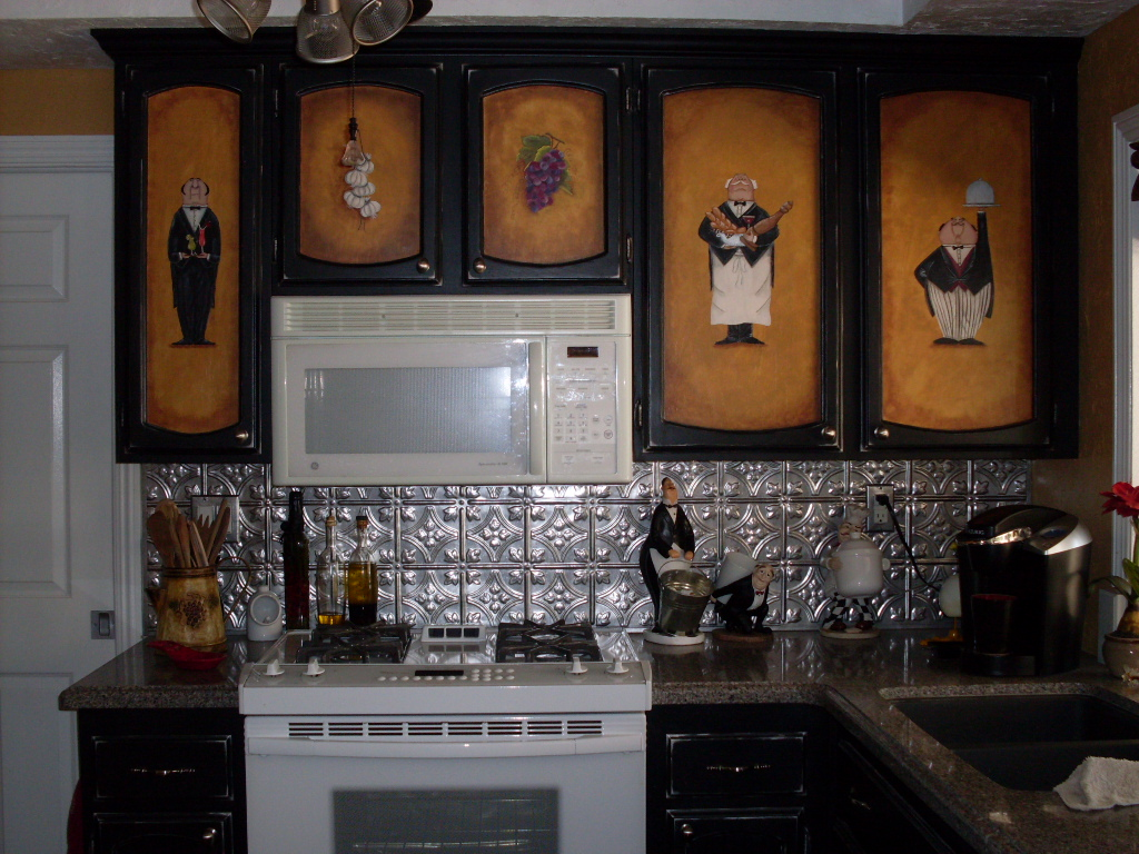 Black Painted Kitchen Cabinets