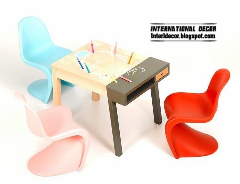 children table designs with plastic chair set