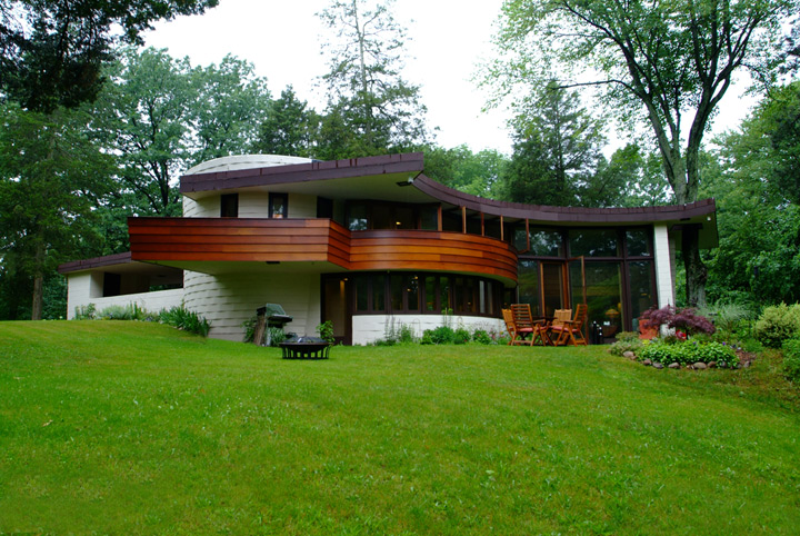 Instant house solar hemicycle usonian homes for Frank lloyd wright usonian home plans