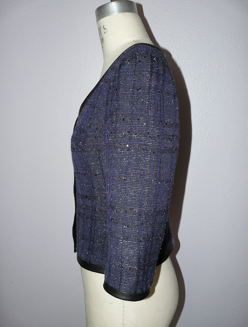 Fitted jacket made from Oscar de la Renta bouclé from Mood Fabrics and a BurdaStyle pa