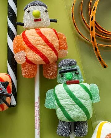 It's Halloweek! Frankenstein party ideas candy marshmallows