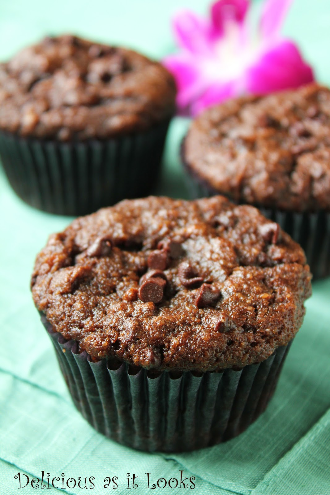 ... : Double Chocolate Almond Banana Muffins (Gluten-Free, Grain-Free