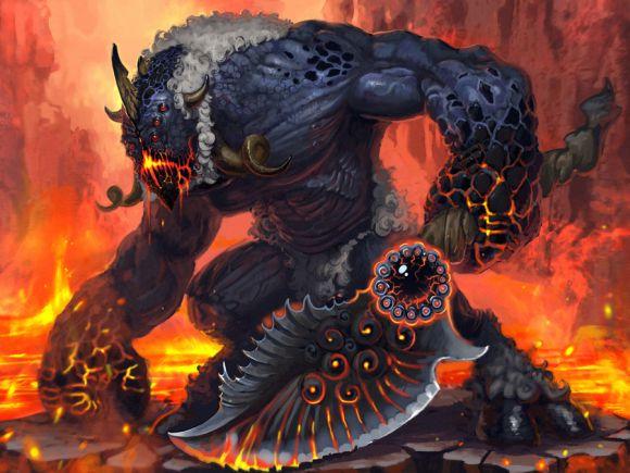 Pavel Romanov cynic-pavel deviantart ilustrações fantasia Demônio de fogo