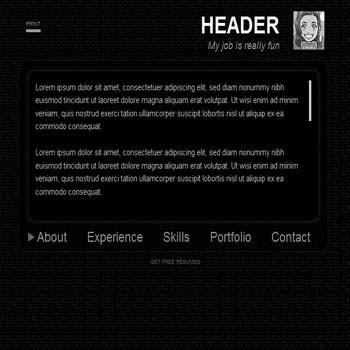 Black Fade blogger template. portfolio blogspot template. vcard blogger template