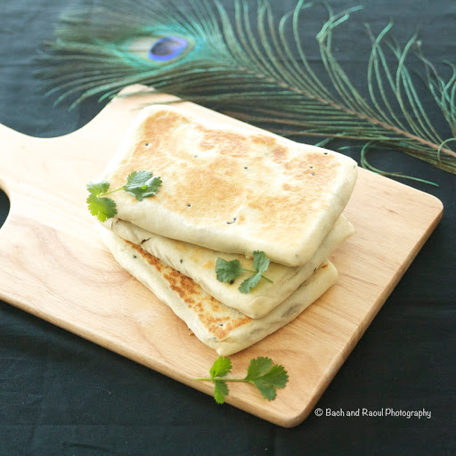 Mughlai Paratha - Indian Flatbread with Minty Lamb Filling