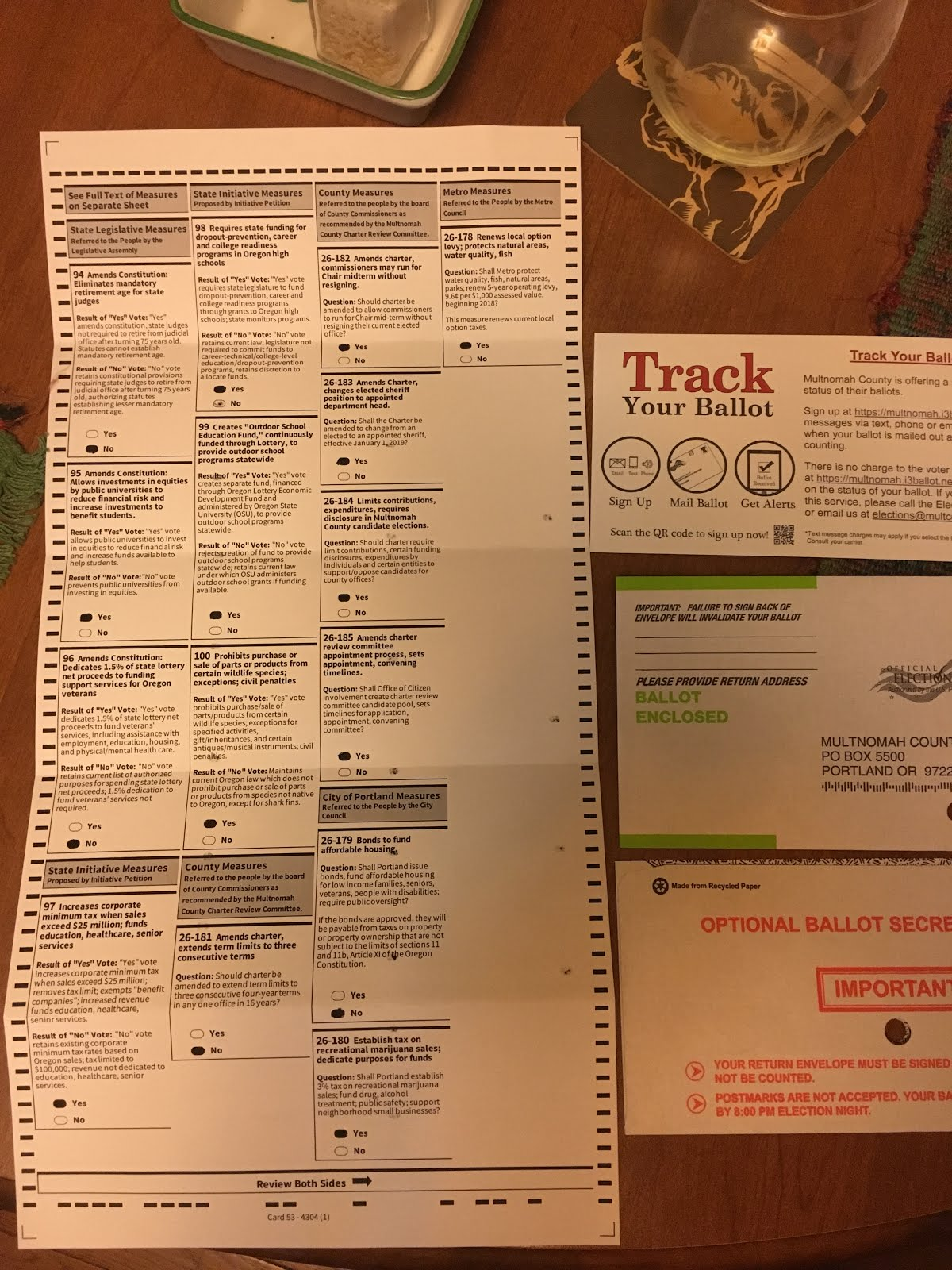 oregon ballot november 2016