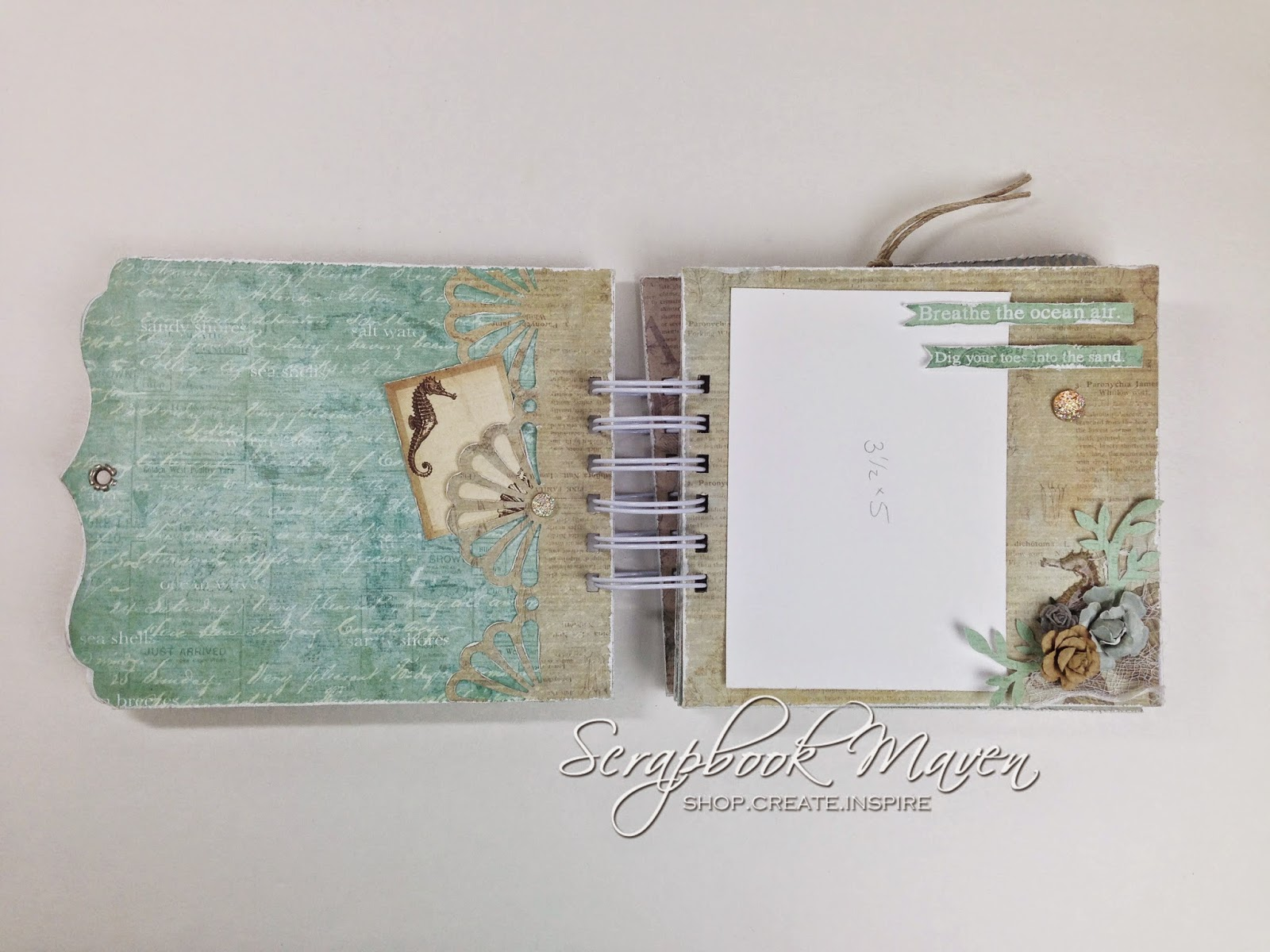 Prima Seashore Mini Album for Scrapbook Maven