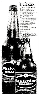 cerveja Malzbier, 1971; os anos 70; propaganda na década de 70; Brazil in the 70s, história anos 70; Oswaldo Hernandez;